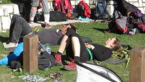 Climbing is strenuous - Klettern ist anstrengend